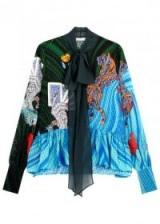 MARY KATRANTZOU Transcendence printed fil coupé blouse ~ mixed print blouses