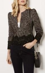 Karen Millen TWEED AND LACE JACKET – chic little jackets