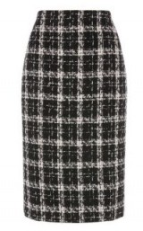 WAREHOUSE TWEED CHECK PENCIL SKIRT | smart checked skirts