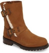 UGG® Niels Water Resistant Genuin Shearling Boot | chestnut-brown leather buckle boots | winter footwear