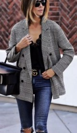 Chic street style looks | effortless style with a dogtooth check jacket