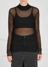 KSUBI Unsheltered black fine-knit jumper ~ sheer jumpers