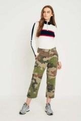 Urban Renewal Vintage Originals Camo Cargo Trousers ~ casual cropped pants