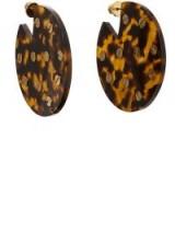 VANDA JACINTHO Studded Tortoiseshell Disc Earrings
