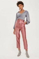 Topshop Velvet Crinkle Ruched Blouse / grey luxe style blouses