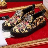 $128.00 Versace Medusa Signature Slip-On Sneakers