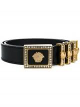 VERSACE VINTAGE Medusa buckle belt / designer crystal belts / 1992 accessories