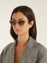 GARRETT LEIGHT Vista 56 cat-eye sunglasses ~ chic eyewear