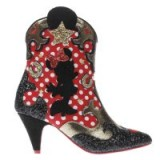 irregular choice black & red x disney hot diggety dog boots / glittering cowboy boots / black and red western boots