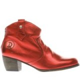 red or dead red mountain metallic boots ~ leather western boots ~ shiny cowboy ankle boot