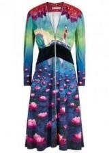 MARY KATRANTZOU X Disney Lilly Mulan-print dress ~ designer printed dresses