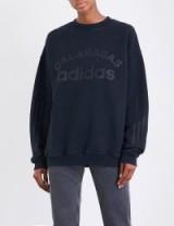 YEEZY Season 5 Calabasas adidas cotton-jersey sweatshirt / slogan/logo sweatshirts