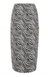 WAREHOUSE ZEBRA PENCIL SKIRT | monochrome midi skirts | animal prints