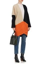 ZERO + MARIA CORNEJO Manon Colorblocked Cotton Coat ~ cocoon coats