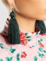 ZEUS+DIONE Kira Rayon Tassel Earrings