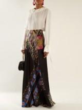 ETRO Abstract floral-print hammered silk-satin skirt ~ chic evening skirts ~ elegant eveningwear