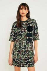 adidas Originals Camo T-Shirt Dress ~ camouflage printed dresses