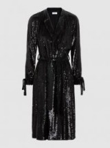 Holloway Sequinned Wrap Coat ~ black sparkly coats ~ evening luxe