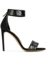 ALEXANDRE VAUTHIER glitter ankle strap sandals / glittering barely there heels