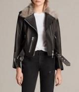 ALLSAINTS GRIFT LEATHER BIKER JACKET | luxe winter jackets