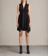 ALLSAINTS JAYDA DRESS | black asymmetric party dresses