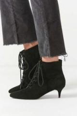 Aria Lace-Up Kitten Heel Boots