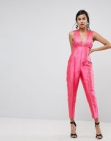 ASOS Premium Structured Jumpsuit ~ pink jumpsuits