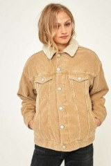 BDG Western Borg-Lined Sand Corduroy Jacket ~ beige cord jackets