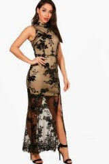 boohoo Boutique Camy Sequin Mesh Maxi Dress – long semi sheer party dresses