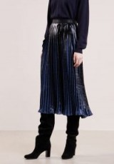 By Malene Birger CORNELIAS Pleated skirt blue | midi skirts
