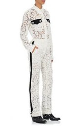CALVIN KLEIN 205W39NYC Lace Flat-Front Trousers   ivory guipure lace pants