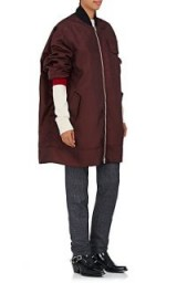 CALVIN KLEIN 205W39NYC Tech-Twill Oversized Bomber Jacket | burgundy jackets