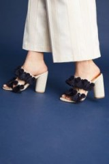 Capsule Collective International Lottie Tassel Heels ~ chunky tasseled mules