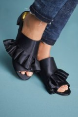 Capsule Collective International Marlety Mules | navy-blue ruffled shoes!