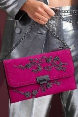 Topshop CASEY Flower Beaded Clutch ~ pink bags