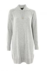 TOPSHOP Cashmere Hoodie Dress – knitted grey dresses – long hoodies