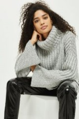 Topshop Chunky Wide Ribbed Roll Neck Jumper   on-trend knitwear