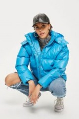 TOPSHOP Cobalt Blue Puffer Jacket – casual winter style