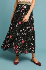Moulinette Soeurs Coralie Tulle Skirt | floaty floral embroidered skirts