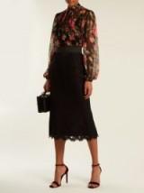 DOLCE & GABBANA Cordonetto-lace pencil skirt ~ straight black skirts ~ beautiful Italian fashion
