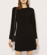 KAREN MILLEN CUT-OUT KNITTED A-LINE DRESS / lbd / chic knitwear