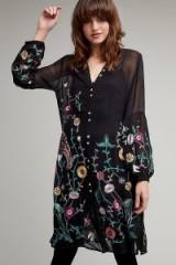Seen Worn Kept Dali Embroidered Shirt | long black sheer shirts