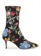 Miss SELFRIDGE DARLINGTON Floral Sock Boot