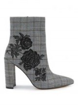Miss Selfridge DENMARK Checked Embroidered Boots / check print boot