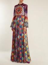 MARY KATRANTZOU Desmine silk crepe de Chine gown ~ multicolour mixed print gowns