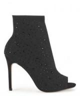 Miss Selfridge DUKE Embellished Shoe Boots – peep toe booties