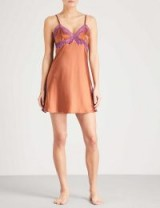 ELLE MACPHERSON BODY Soie lace and stretch-silk chemise ~ luxe lingerie
