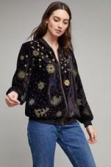 Seen Worn Kept Estella Velvet Zodiac Bomber | cosmic/celestial embroidered jackets | casual luxe