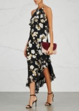 ALICE + OLIVIA Fabiola floral-devoré chiffon dress – beautiful flower prints
