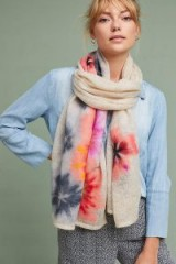 Anthropologie Felted Bouquet Scarf   floral knitted scarves   luxe style winter accessories